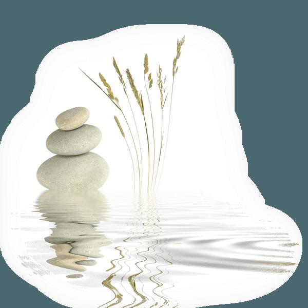zenqi-background-pierre-reflet-dans-eau